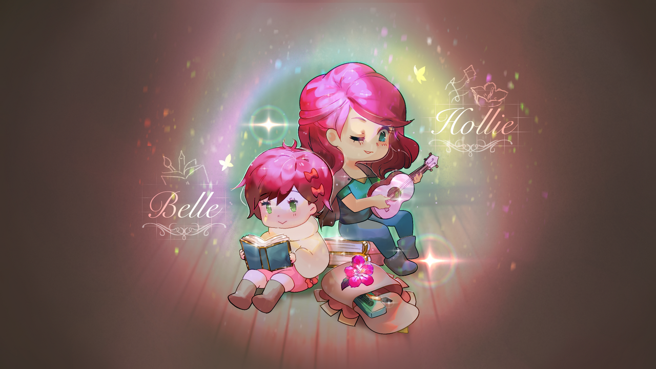 Hollie and Belle
