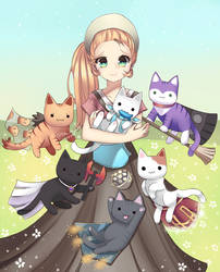 RS: Gertrude and cats by Tifa-Amakura