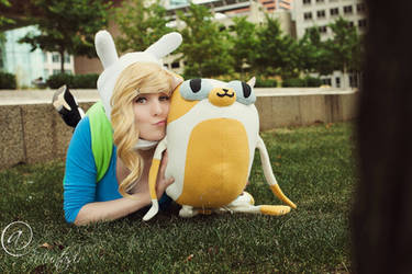 Fionna and Cake by Larina-Satome