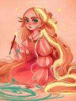 Rapunzel (12 years) by Y0Y0Sketch