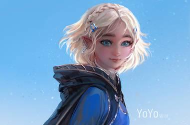 Zelda by Y0Y0Sketch