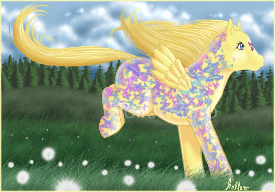 Dashing Butterflies Pony by hollowzero