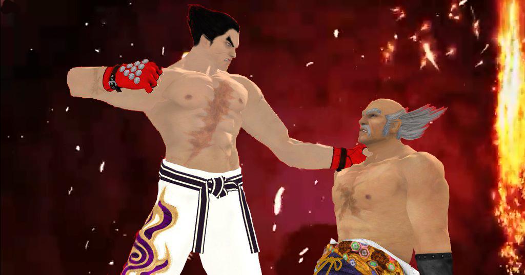 Kazuya Vs Heihachi By Dragonwarrior H On Deviantart