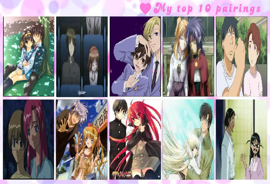 My Top Ten Anime Couples by AfroOtaku917 on DeviantArt