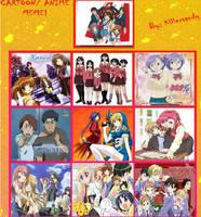 My Top Ten Favorite Anime Redo by AfroOtaku917