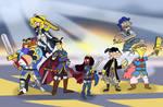 Cartoon Emblem Warriors