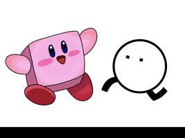 Box Kirby and Round BoxBoy by AfroOtaku917