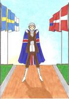 Nordic flags 1 Island by Nipponfan-EDO