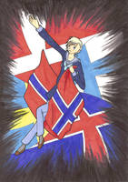 Nordic flags 2 Norge by Nipponfan-EDO