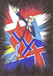 Nordic flags 2 Norge