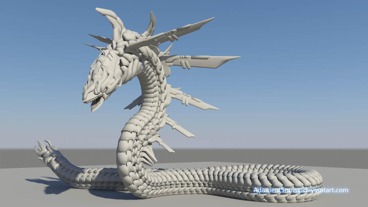 Serpent Untextured by AdamentSnow