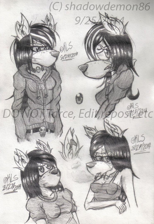 More kerri sketches by shadowdemon86