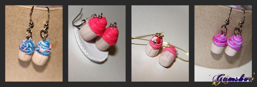 Mini Cupcake Earrings