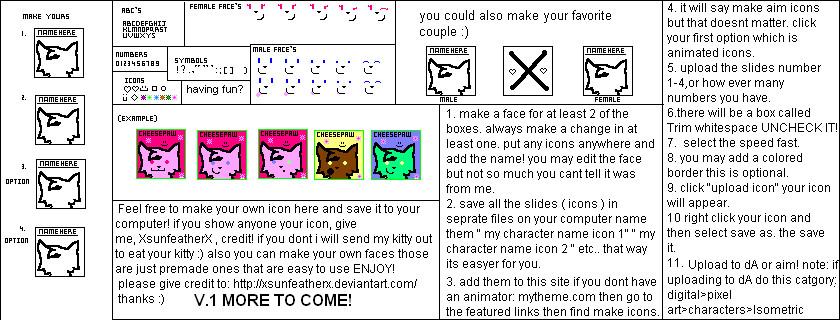 Icon Maker V.1 by XSunfeatherX