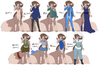 The Outfits of Aura by MOOMANiBE