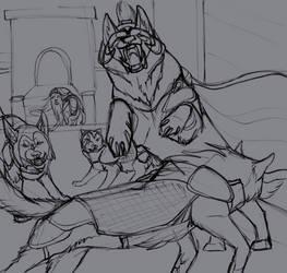 The Queen's Bear - sketch