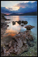 Rocks in the sunset by Lidija-Lolic
