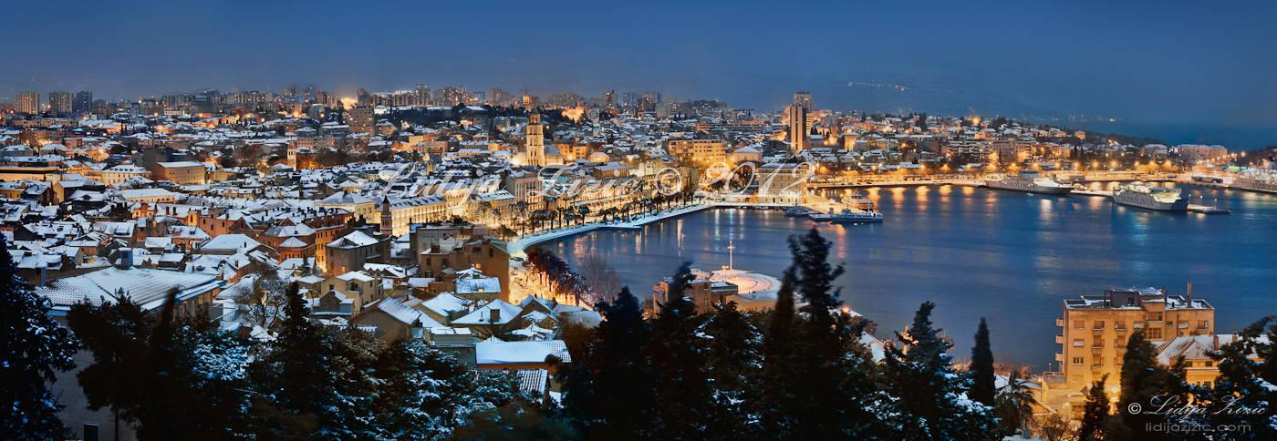 Snow in Split by Lidija-Lolic