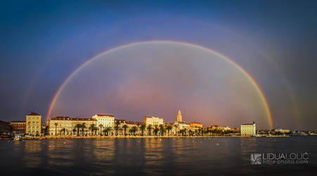 Double rainbow over Split