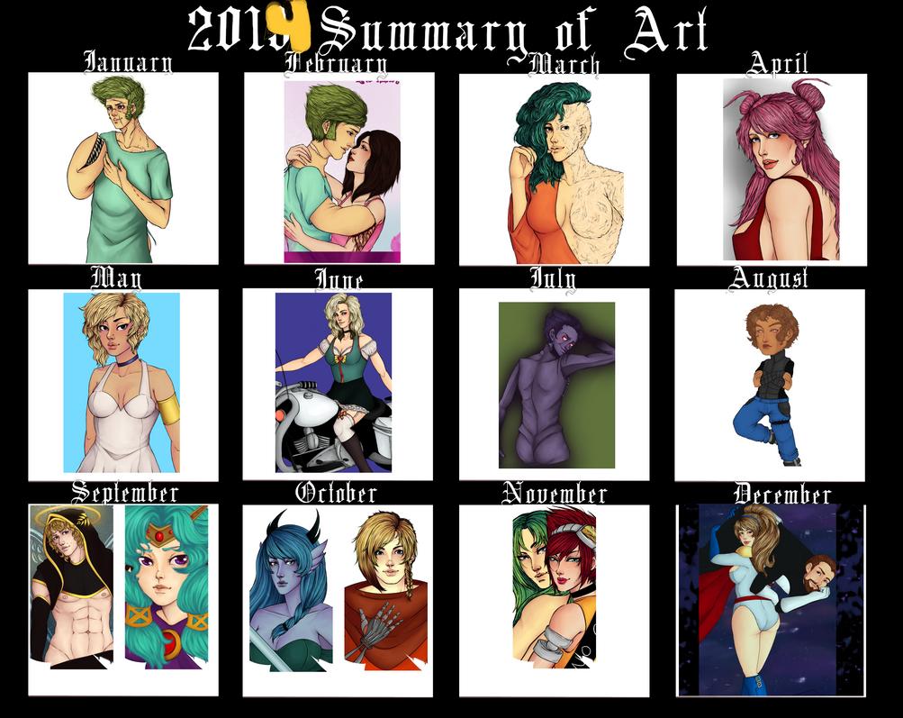 2014 Art Summary by LippyTappyTooTa