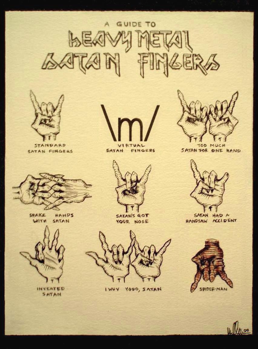 Heavy Metal Fingers Reinvented By Oleanderclouds On Deviantart