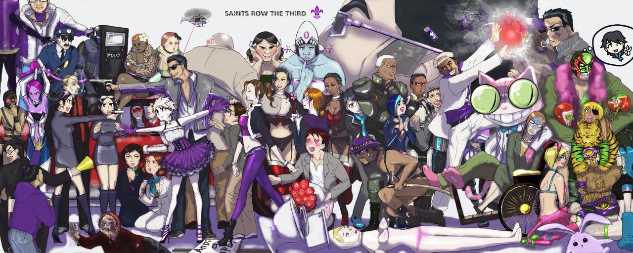 Saints Row 3 Anime Characters : Saints row the third by zakazakka on deviantart