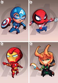 Chibi Avengers Set