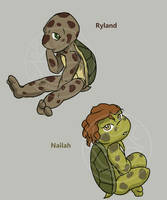 Ryland and Nailah -TMNT- by lonesome-wolf-child