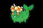 Frangipani flower Cake Pop narwhal Adopt -OPEN-