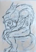 Pondering Werewolf by pythonorbit