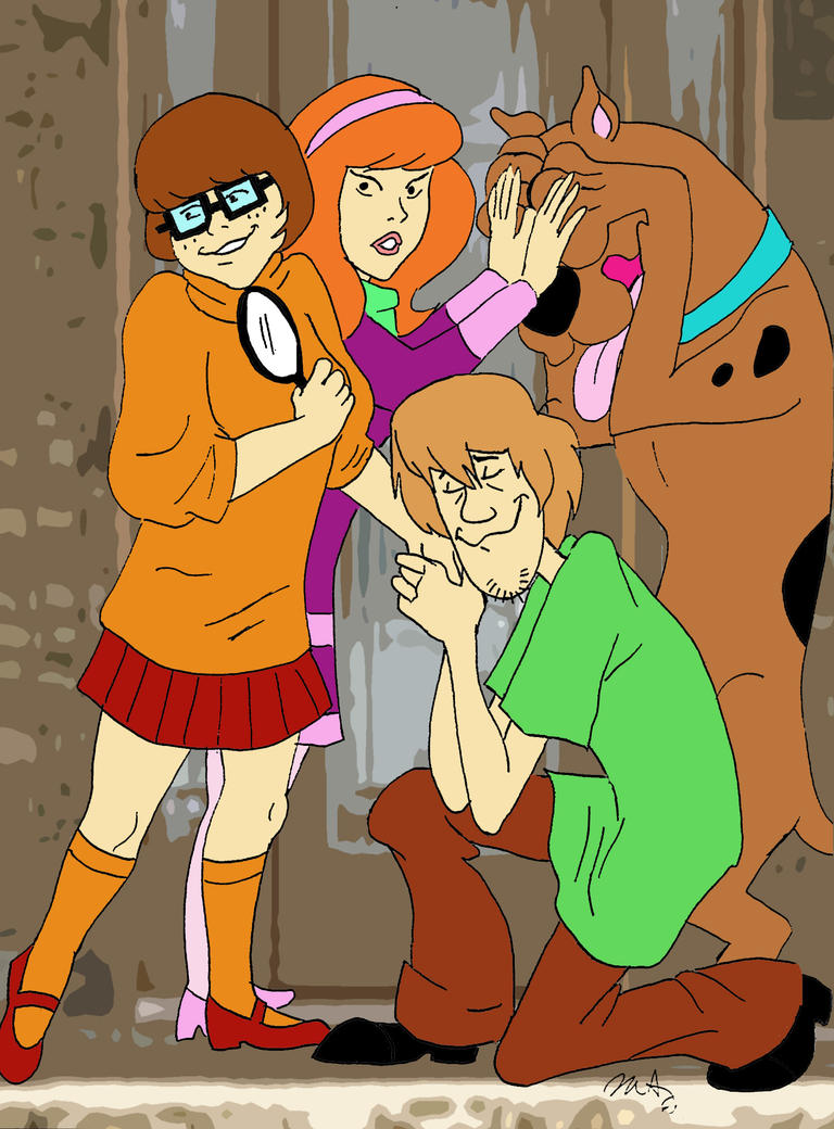 Cover Your Eyes Scooby by pythonorbit