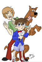 Scooby And Conan by pythonorbit