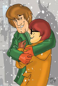 Shaggy Hugs Velma