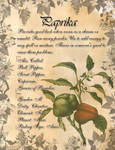 Book of Shadows: Herb Grimoire - Paprika