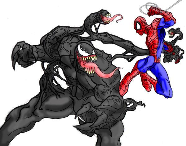 Spiderman drawings venom - photo#24