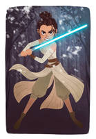May The Force Be With Rey by FrogMakesArt