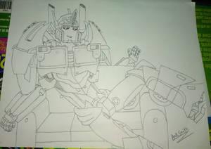 Sexy Optimus Prime by Ana Smith