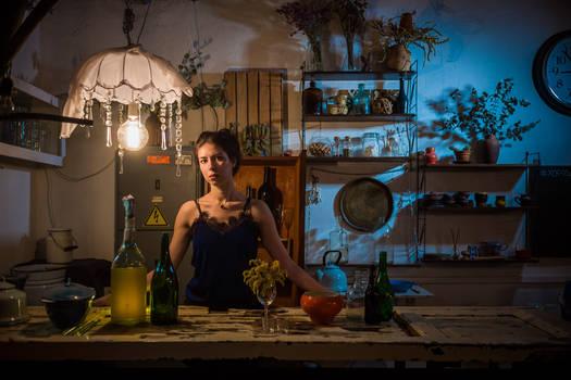 Maria As A Bartender