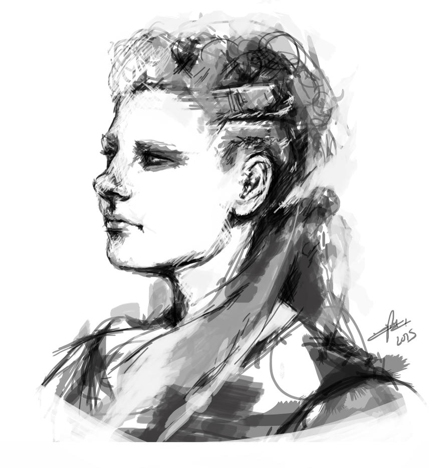 Lagertha Speed painting by iria-rb