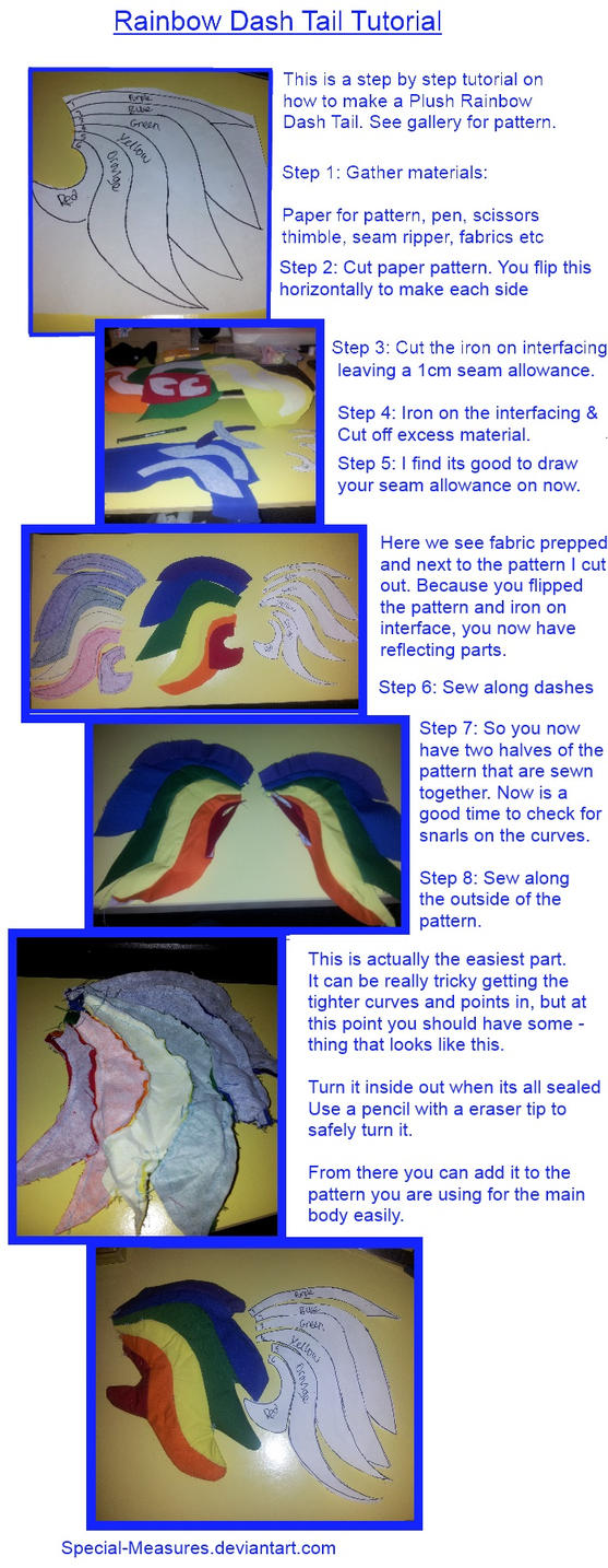 Rainbow Dash Tail Tutorial by Special-Measures