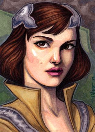 Sketchcard: Padme Amidala (Clone Wars, season 3) by Everwho