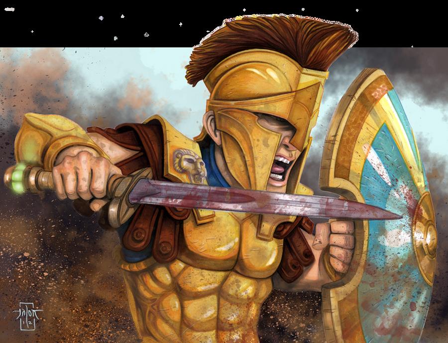 Hoplite Roar by Everwho