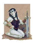 DnD Pinup: The Half-Orc