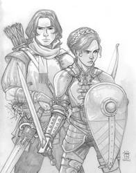 Aros and Clara by Everwho