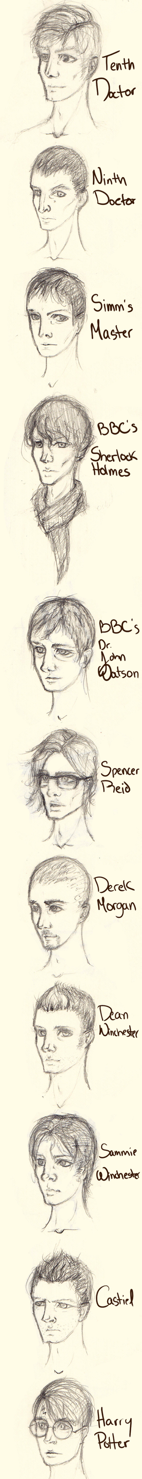 Headshot sketchdump by alexandravan5