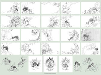 Sketches for book Momo part 1 by valuing-a-life
