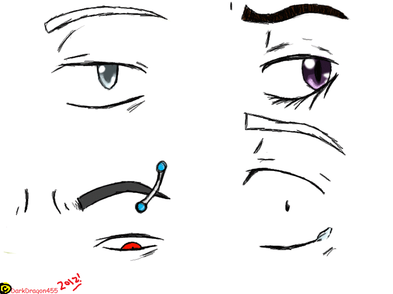 Anime Style Eyes By Darkdragon455