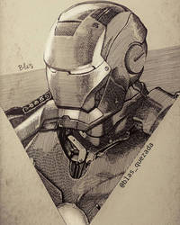 Iron Man - achurado by Blas