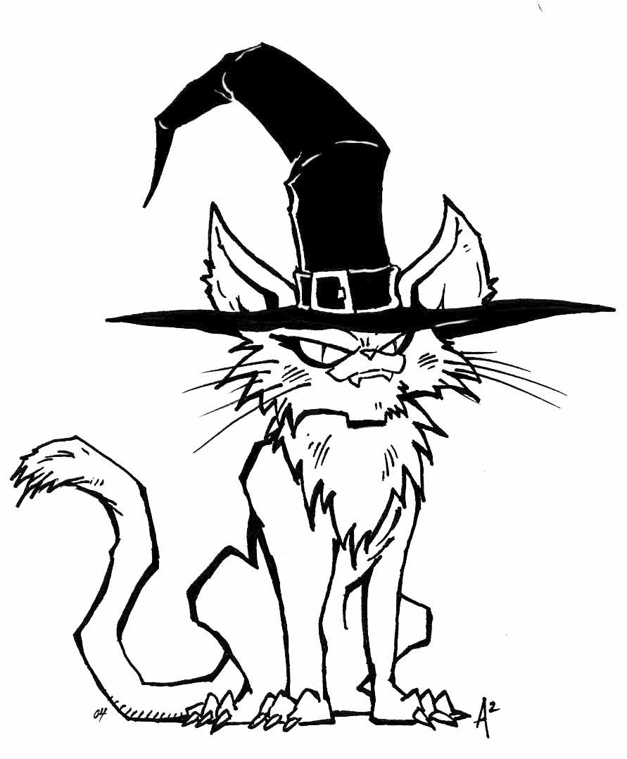 Halloween Witch cat by ArcherMonster - 101.5KB