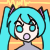Hatsune Miku Icon Surprized